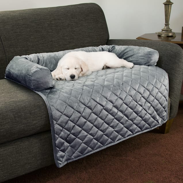"""PETMAKER Furniture Protector Pet Cover with Shredded Memory Foam in Gray for Dogs, 35"""" L X 35"""" W - Carousel image #1"""