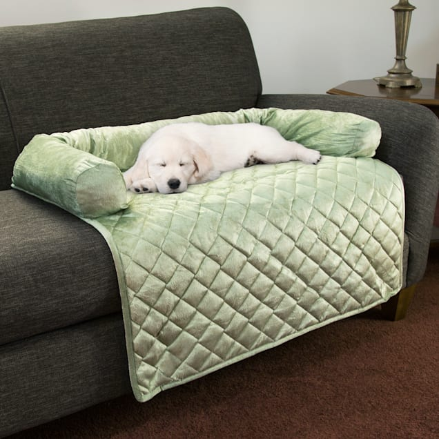 """PETMAKER Furniture Protector Pet Cover with Bolster in Sage for Dogs, 35"""" L X 35"""" W - Carousel image #1"""