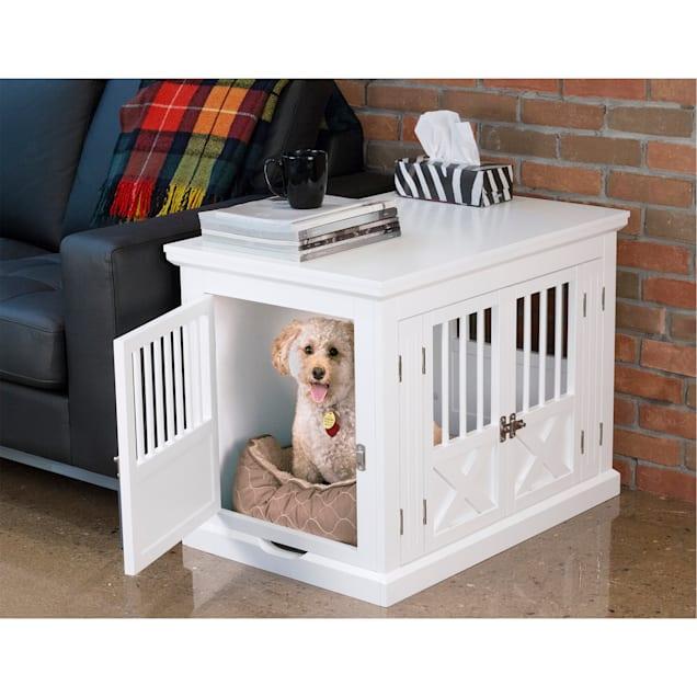 "Zoovilla Triple Door White Dog Crate, 30.63"" L X 20.39"" W X 23.23"" H - Carousel image #1"
