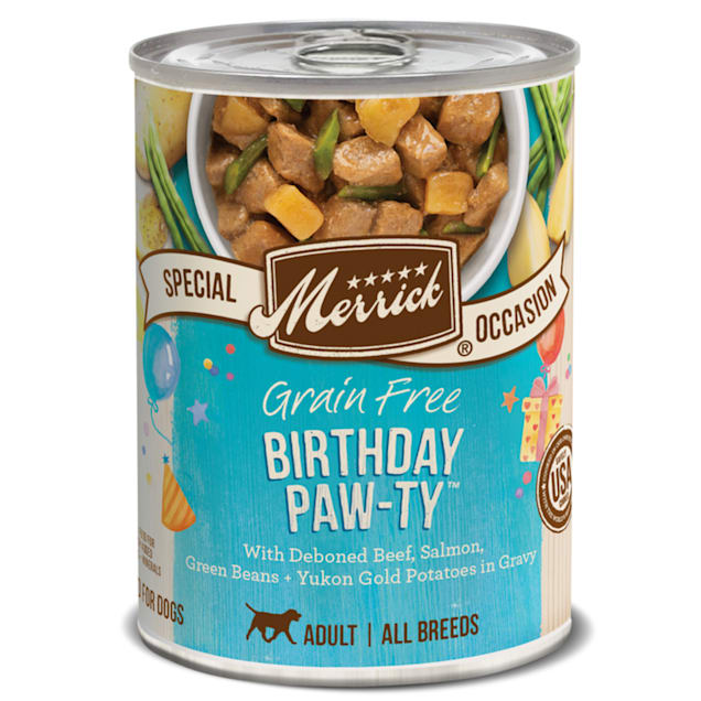 Merrick Grain Free Special Occasion Birthday Paw-ty Canned Wet Dog Food, 12.7 oz. - Carousel image #1