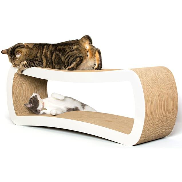 "PetFusion Jumbo White Cat Scratcher Lounge, 14.3"" - Carousel image #1"