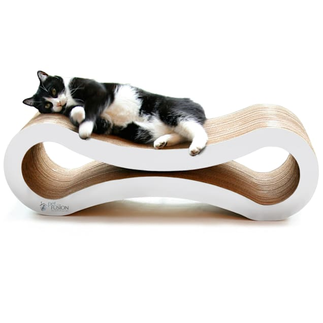 """PetFusion Ultimate Cloud White Cat Scratcher Lounge, 10.5"""" - Carousel image #1"""