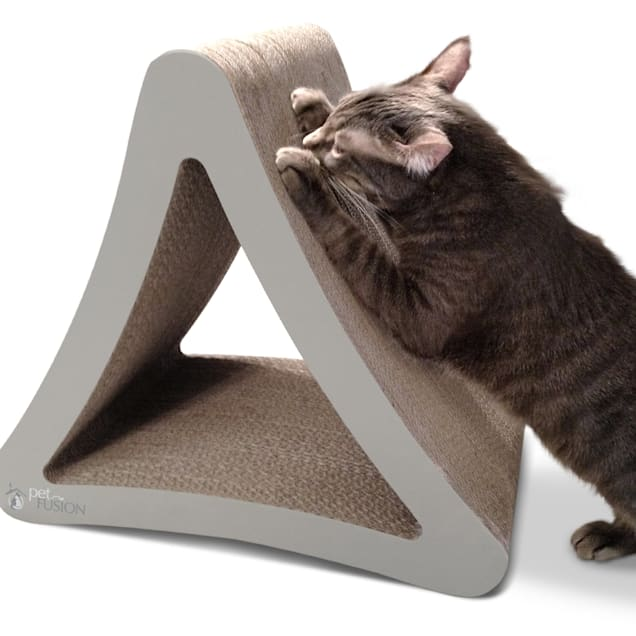 """PetFusion 3-Sided Warm Gray Vertical Scratcher, Large, 21.1"""" - Carousel image #1"""
