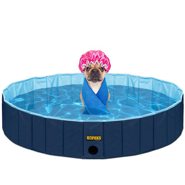 Kopeks Foldable Blue Grooming & Bathing Pool Tub for Dogs, X-Large - Carousel image #1