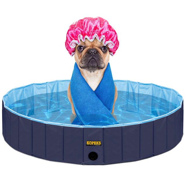 Kopeks Foldable Blue Grooming & Bathing Pool Tub for Dogs, Medium - Carousel image #1