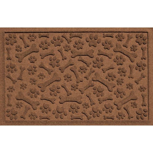 """Bungalow Flooring Paws & Bones Dark Brown Dog Mat, 36"""" L x 24"""" W - Carousel image #1"""