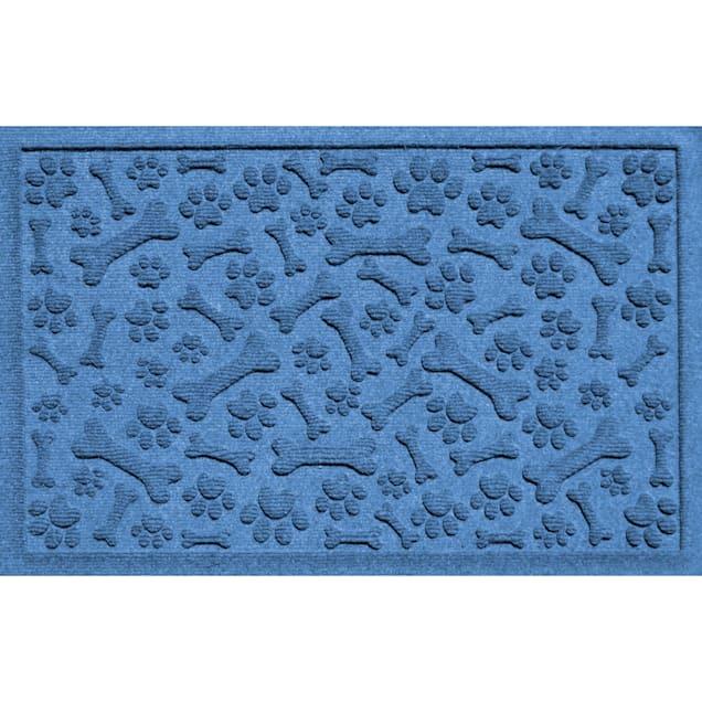"Bungalow Flooring Paws & Bones Blue Dog Mat, 36"" L x 24"" W - Carousel image #1"