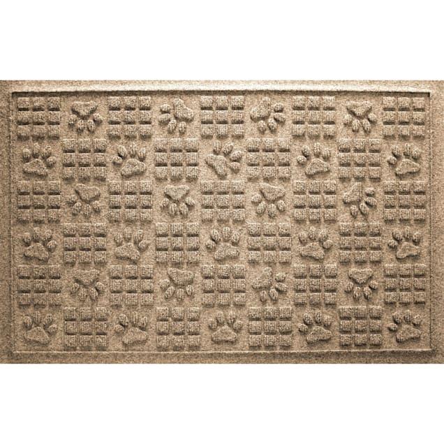 "Bungalow Flooring Paw Squares Khaki Dog Mat, 36"" L x 24"" W - Carousel image #1"
