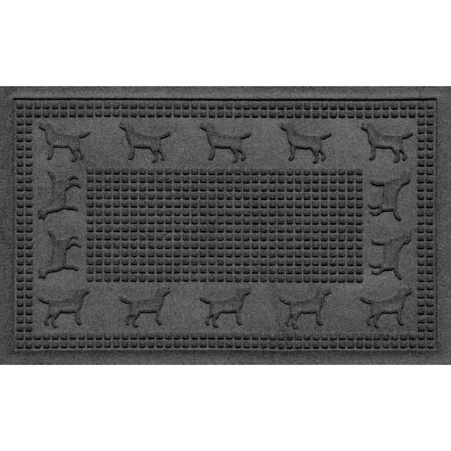 "Bungalow Flooring Lab Border Charcoal Dog Mat, 36"" L x 24"" W - Carousel image #1"