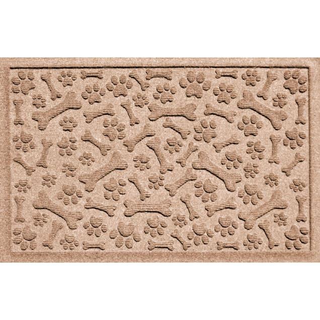 """Bungalow Flooring Paws & Bones Brown Dog Mat, 36"""" L x 24"""" W - Carousel image #1"""