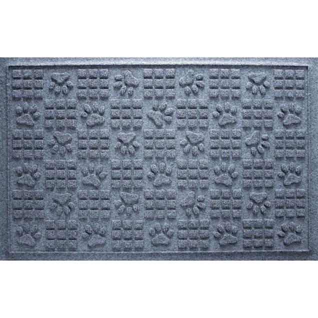 "Bungalow Flooring Paw Squares Bluestone Dog Mat, 36"" L x 24"" W - Carousel image #1"