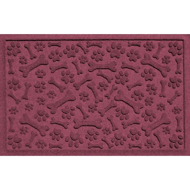 """Bungalow Flooring Paws & Bones Bordeaux Dog Mat, 36"""" L x 24"""" W - Carousel image #1"""