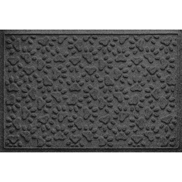 """Bungalow Flooring Scattered Paws Charcoal Dog Mat, 36"""" L x 24"""" W - Carousel image #1"""