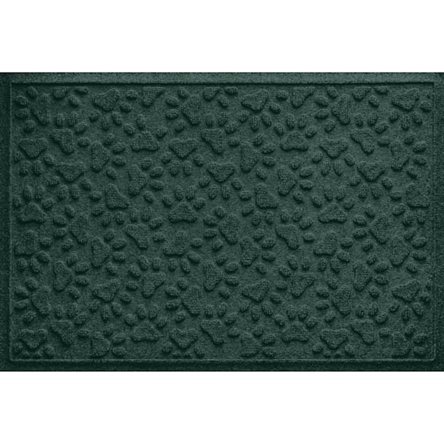 """Bungalow Flooring Scattered Paws Evergreen Dog Mat, 36"""" L x 24"""" W - Carousel image #1"""