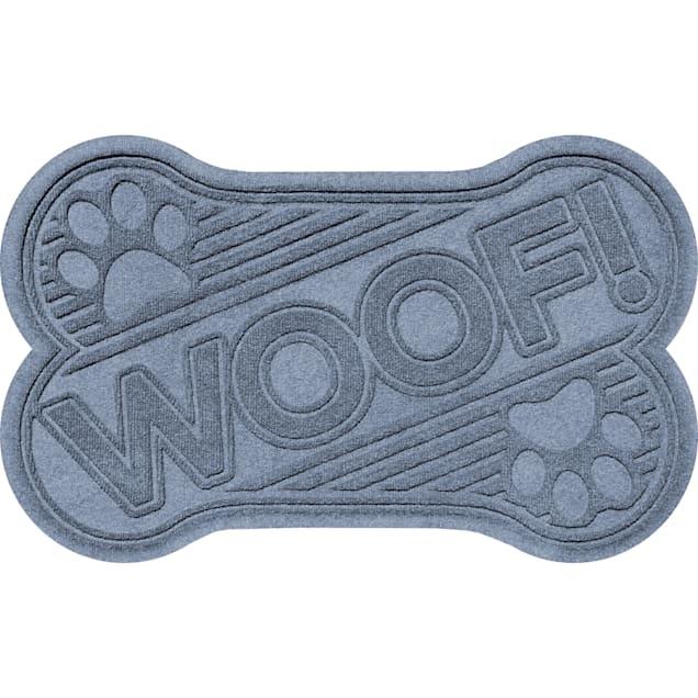 "Bungalow Flooring Woof bone Bluestone Dog Mat, 36"" L x 24"" W - Carousel image #1"