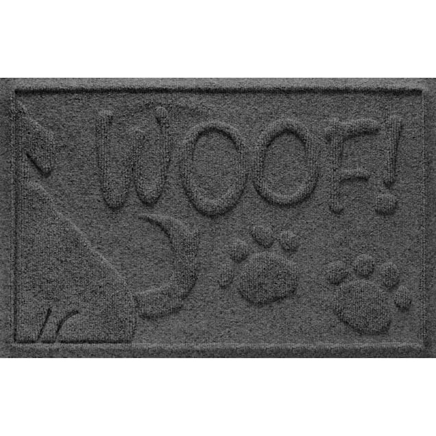 "Bungalow Flooring Wag the Dog Charcoal Mat, 28"" L x 18"" W - Carousel image #1"