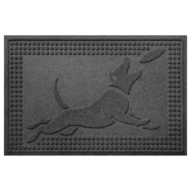 "Bungalow Flooring Flying Charcoal Dog Mat, 36"" L x 24"" W - Carousel image #1"