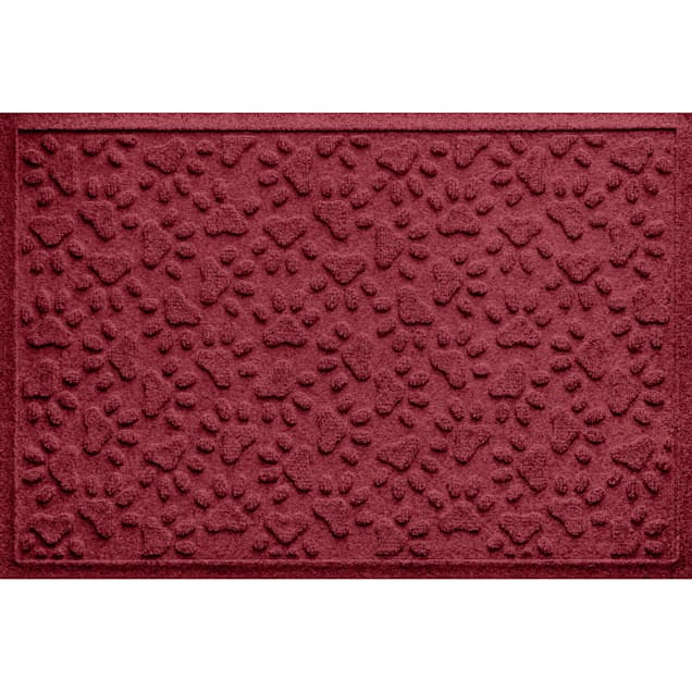 """Bungalow Flooring Scattered Paws Red Dog Mat, 36"""" L x 24"""" W - Carousel image #1"""