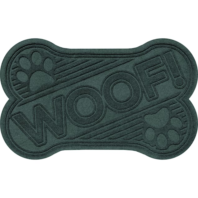 "Bungalow Flooring Woof bone Evergreen Dog Mat, 36"" L x 24"" W - Carousel image #1"