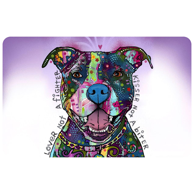 """Bungalow Flooring Lover Not A Fighter Dog Mat, 36"""" L x 24"""" W - Carousel image #1"""