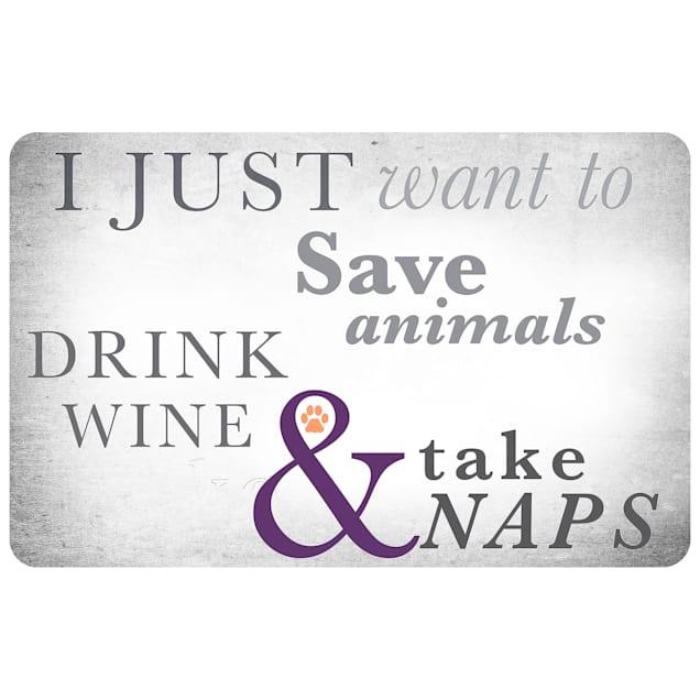 "Bungalow Flooring Animals Wine & Naps Dog Mat, 36"" L x 24"" W - Carousel image #1"