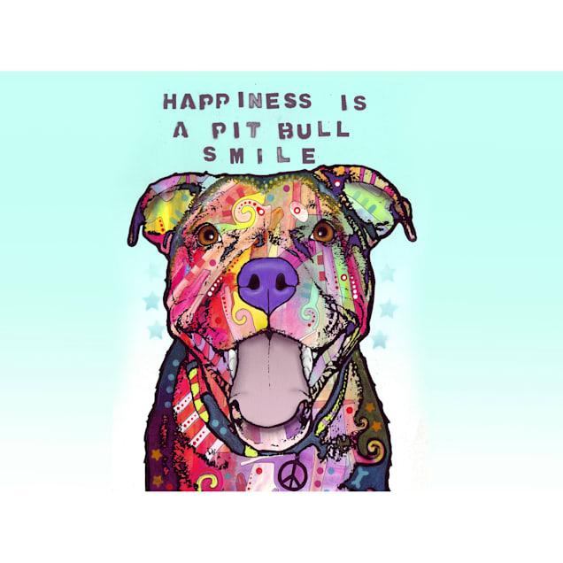"Bungalow Flooring Pit Bull Smile Dog Mat, 36"" L x 24"" W - Carousel image #1"
