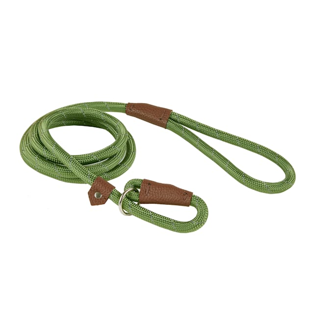 Track & Tail Green Reflective Rope Dog Leash - Carousel image #1