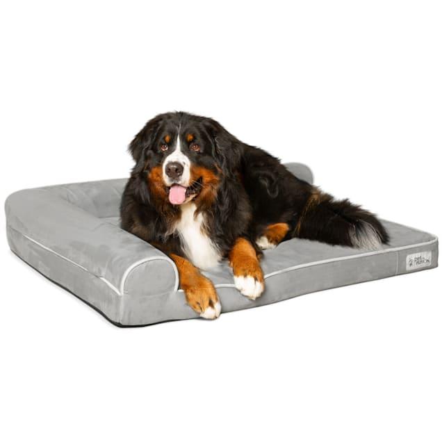 "PetFusion BetterLounge Gray Dog Bed & Lounge, 44"" L X 34"" W - Carousel image #1"