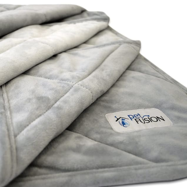 "PetFusion Microplush Quilted Pet Gray Blanket, 58"" L X 48"" W - Carousel image #1"