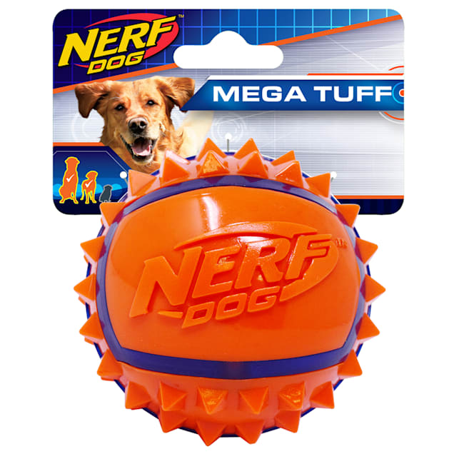 Nerf Two Tone TPR Spike Ball Dog Toy, X-Small - Carousel image #1