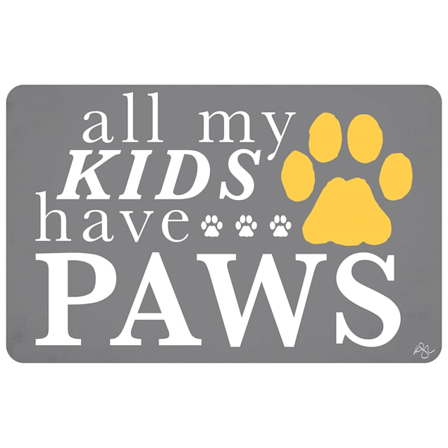 """Bungalow Flooring All My Kids Have Paws Dog Mat, 36"""" L x 24"""" W - Carousel image #1"""