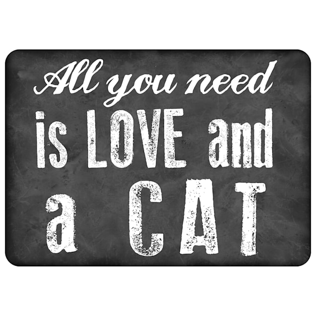 """Bungalow Flooring All You Need is Love & a Cat Mat, 31"""" L x 22"""" W - Carousel image #1"""