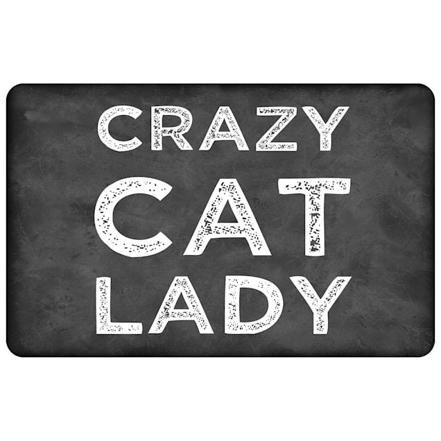 "Bungalow Flooring Crazy Cat Lady Mat, 31"" L x 22"" W - Carousel image #1"