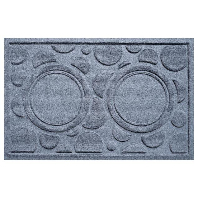 "Bungalow Flooring Bowl Dots Bluestone Dog Mat, 27"" L x 18"" W - Carousel image #1"
