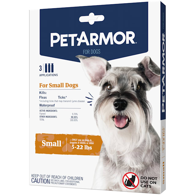 PetArmor Flea & Tick Squeeze for Dogs 5-22 lbs, Pack of 3 - Carousel image #1