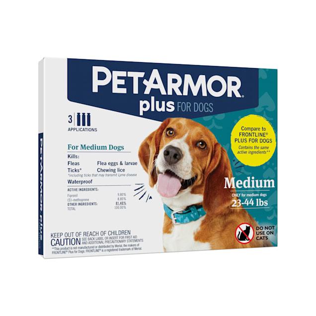 PetArmor Plus Flea & Tick Squeeze-On Dog 23-44 lbs, Count of 3 - Carousel image #1