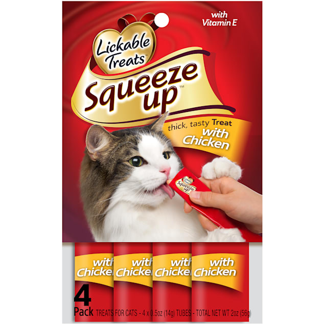 Lickable Treats Squeeze Up Chicken for Cats, 2 oz. - Carousel image #1