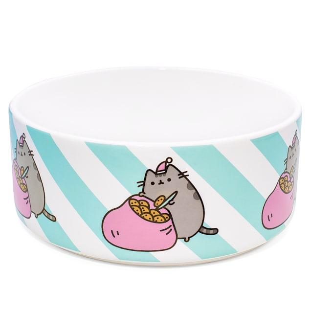 Pusheen Sack of Cookies Ceramic Donut Cat Bowl, 3 Cups - Carousel image #1