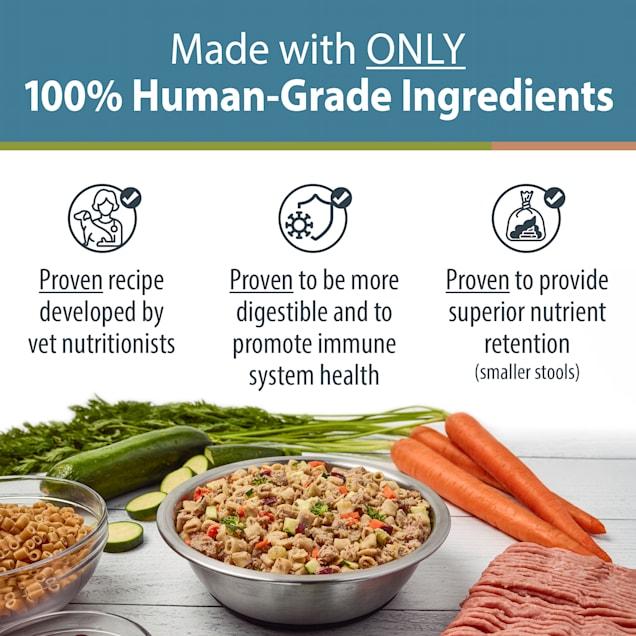 JustFoodForDogs Daily Diets Turkey & Whole Wheat Macaroni Frozen Dog Food, 18 oz. - Carousel image #1