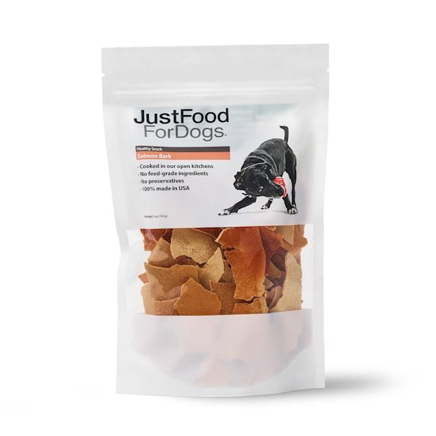 JustFoodForDogs Snacks Salmon Bark Dog Treats, 5 oz. - Carousel image #1