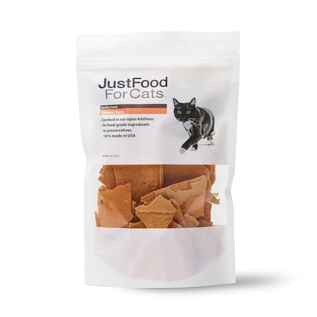 JustFoodForDogs Snacks Salmon Bark Cat Treats, 5 oz. - Carousel image #1