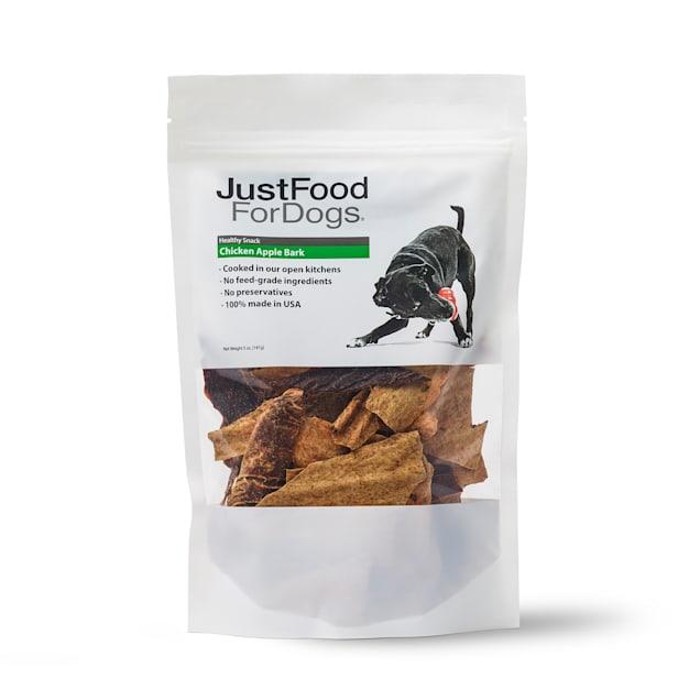 JustFoodForDogs Snacks Chicken Apple Bark Dog Treats, 5 oz. - Carousel image #1