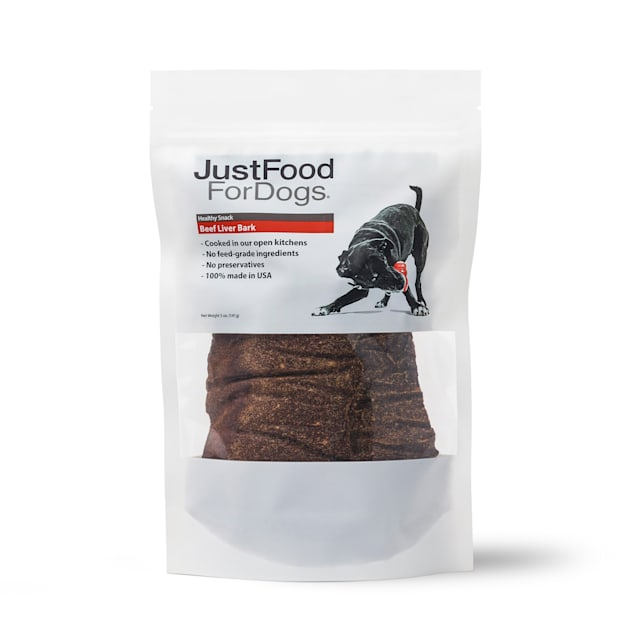 JustFoodForDogs Snacks Beef Liver Bark Dog Treats, 5 oz. - Carousel image #1