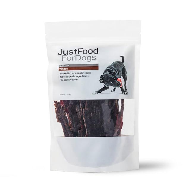 JustFoodForDogs Snacks Venison Cap Steak Dog Treats, 5 oz. - Carousel image #1