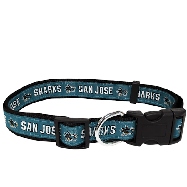 Pets First San Jose Sharks Dog Collar, Large - Carousel image #1