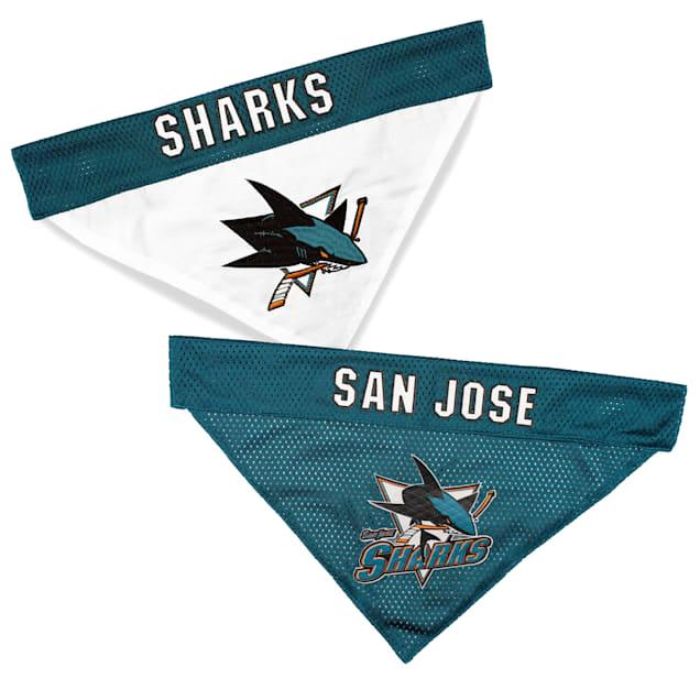Pets First San Jose Sharks Reversible Dog Bandana, Small/Medium - Carousel image #1