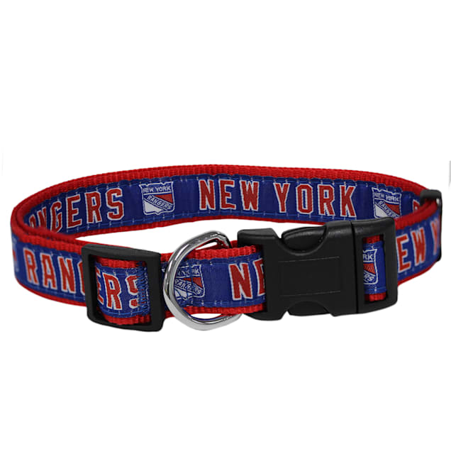 Pets First New York Rangers Dog Collar, Small - Carousel image #1