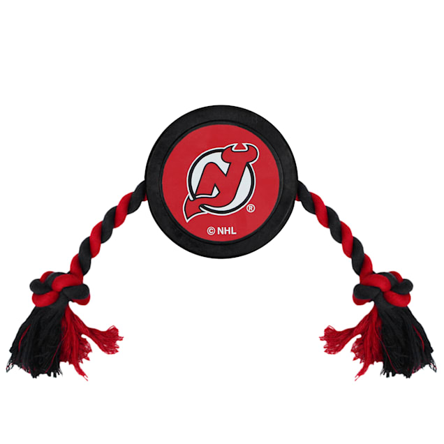 Pets First New Jersey Devils Hockey Puck Toy for Dogs, Large - Carousel image #1