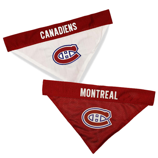Pets First Montreal Canadiens Reversible Dog Bandana, Large/X-Large - Carousel image #1