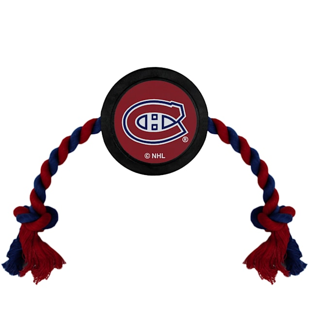 Pets First Montreal Canadiens Hockey Puck Toy for Dogs, Large - Carousel image #1